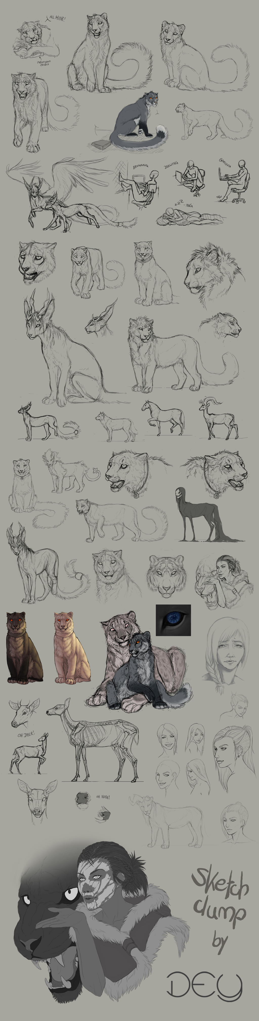 Tumblr Sketchdump #4 by DeyVarah