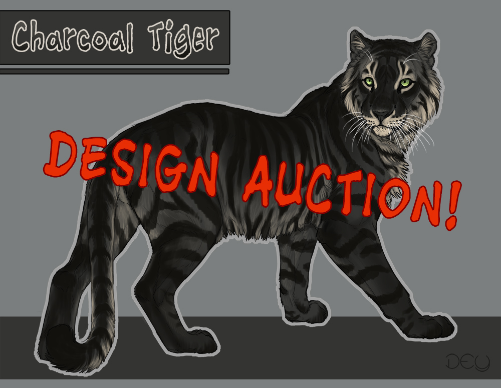 Charcoal Tiger - Character Design Auction! -SOLD by DeyVarah