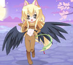 Winged anime girl