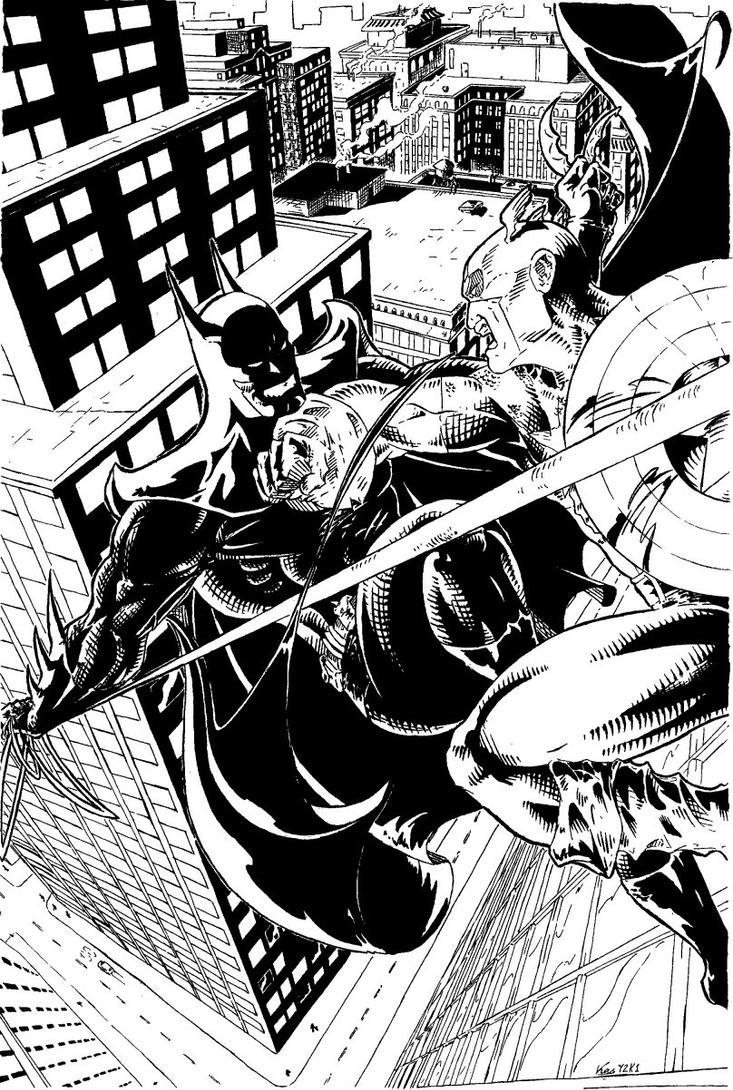 Batman VS Captain America by Lawbringer-Vypr