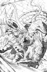 The Warrior's Last Stand by Lawbringer-Vypr