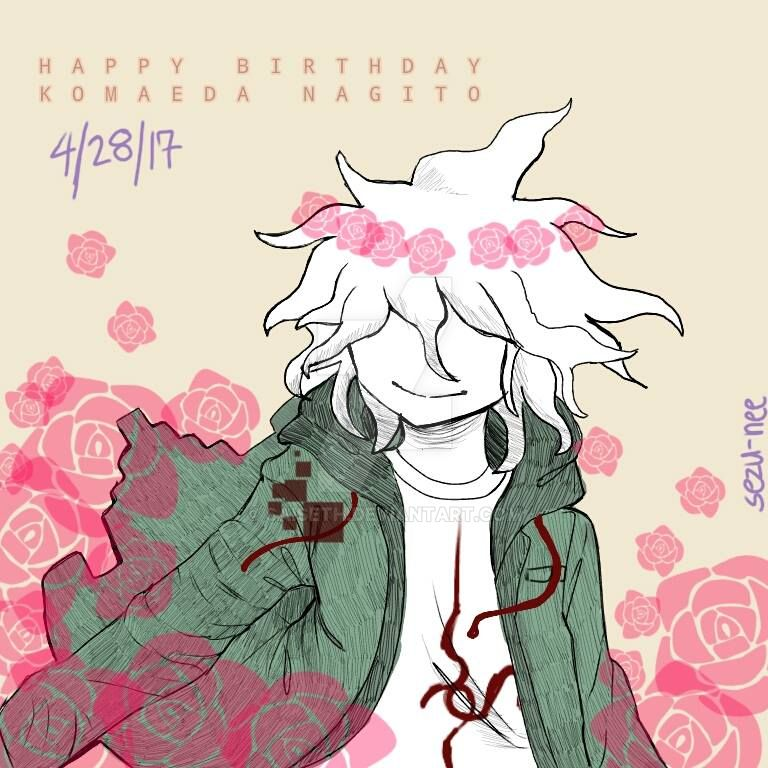 Happy Birthday Komaeda Kun! by SAISETH