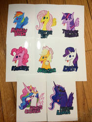 MLP Derp Badges by Xyloart