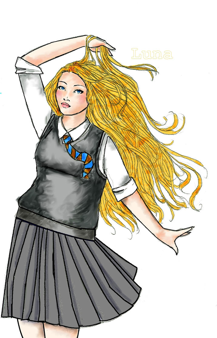 luna lovegood coloring pages - luna lovegood by scarletnight on deviantart
