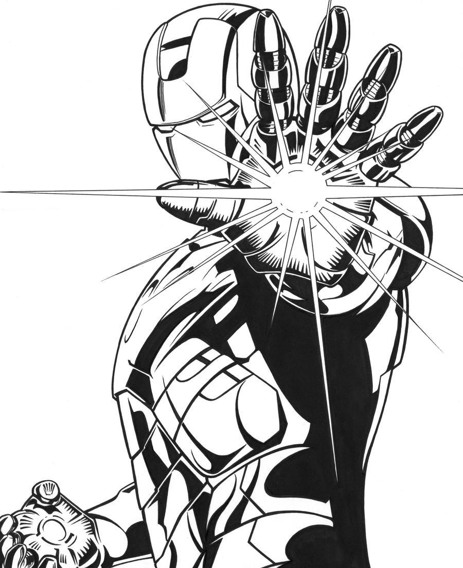 Line Drawing Man : Iron man by dmthompson on deviantart