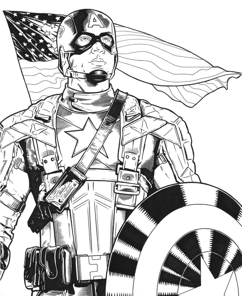 Captain america by dmthompson on deviantart for Captain america the winter soldier coloring pages