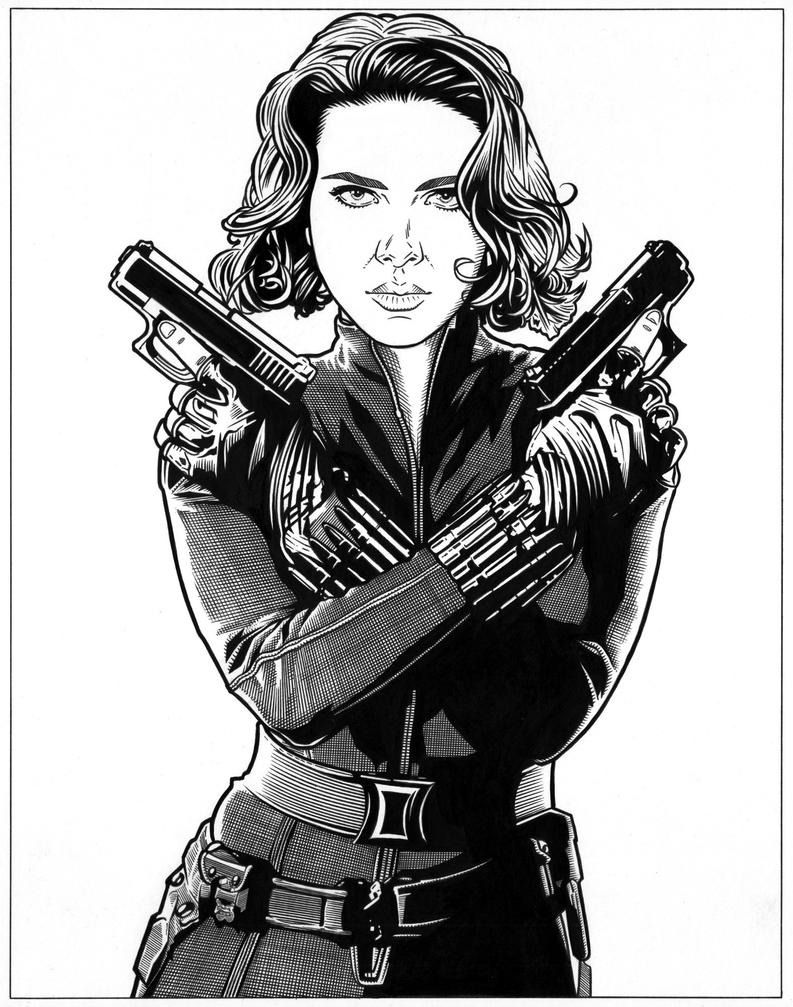 Black Widow - 3 by DMThompson