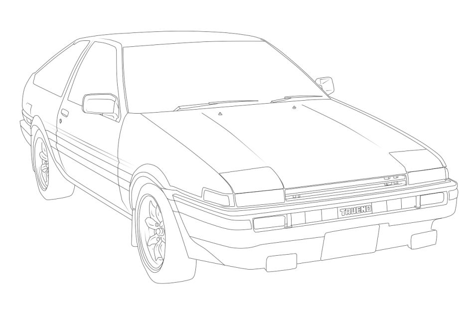 ae86 coloring page coloring pages