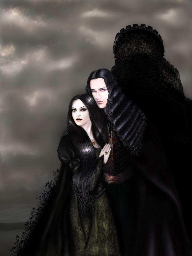 Gothic Love couple Wallpaper : Gothic Romance by B-a-s-t-e-t on DeviantArt