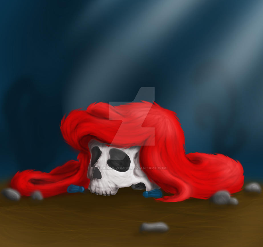 Skull ariel by Gummi-Zombie