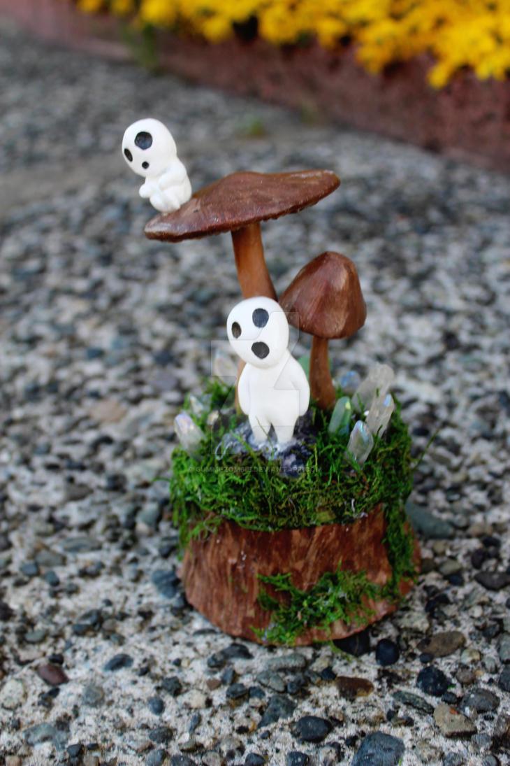 Princess Mononoke Mushroom commission by Gummi-Zombie