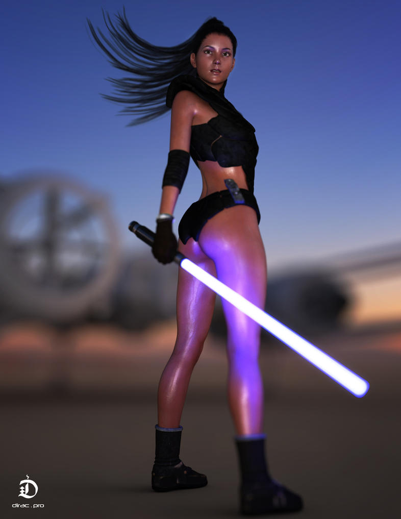 The force is strong with her by dirac-art