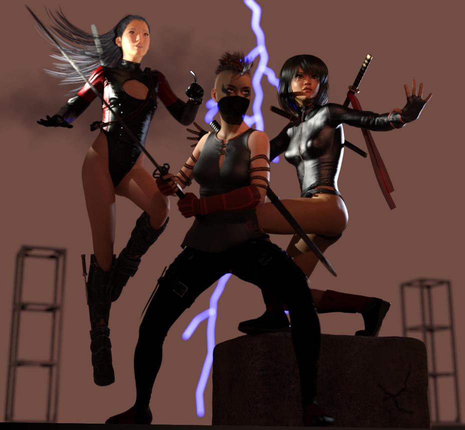 Three Ninjas by dirac-art