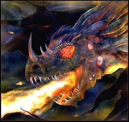 Draped eye dragon by Mathildaw