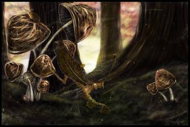 Leaf dragon by Mathildaw