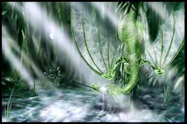 Raindrop dragon by Mathildaw