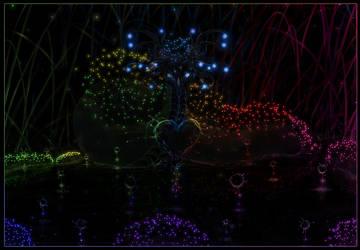 Glowing dot dragon by Mathildaw