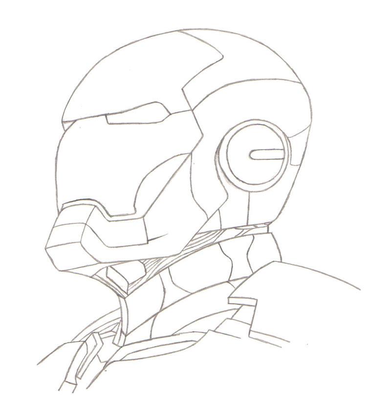 Line Art Man : Iron man lineart by generalbrievous on deviantart