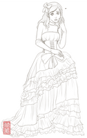 Oh my princess Lineart by takemina