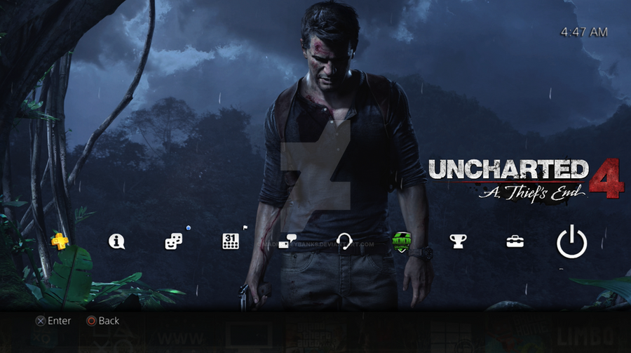 Uncharted 4 a thief 39 s end dynamic ps4 theme by - Uncharted 4 wallpaper ps4 ...