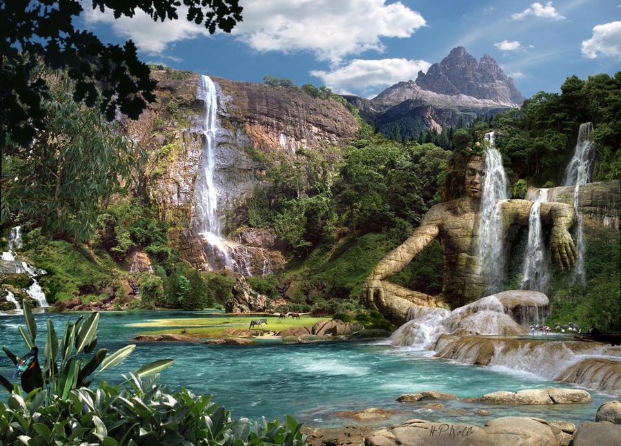 Waterfalls mountain by hanspeterkolb on deviantart waterfalls mountain by hanspeterkolb altavistaventures Gallery