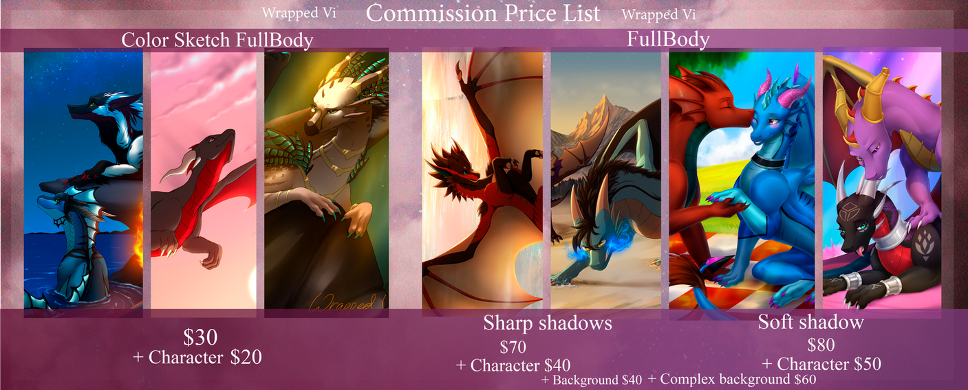 Commission Price List - OPEN