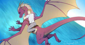Flying with a dragoness