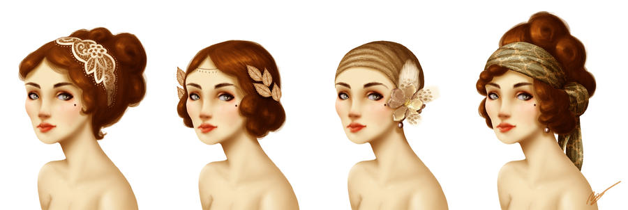 20s ladies by RocioGarciaART