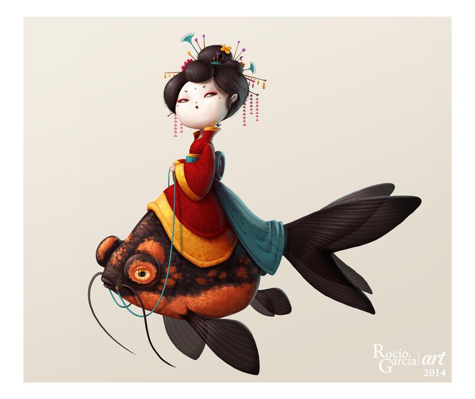 Geisha Fish by RocioGarciaART