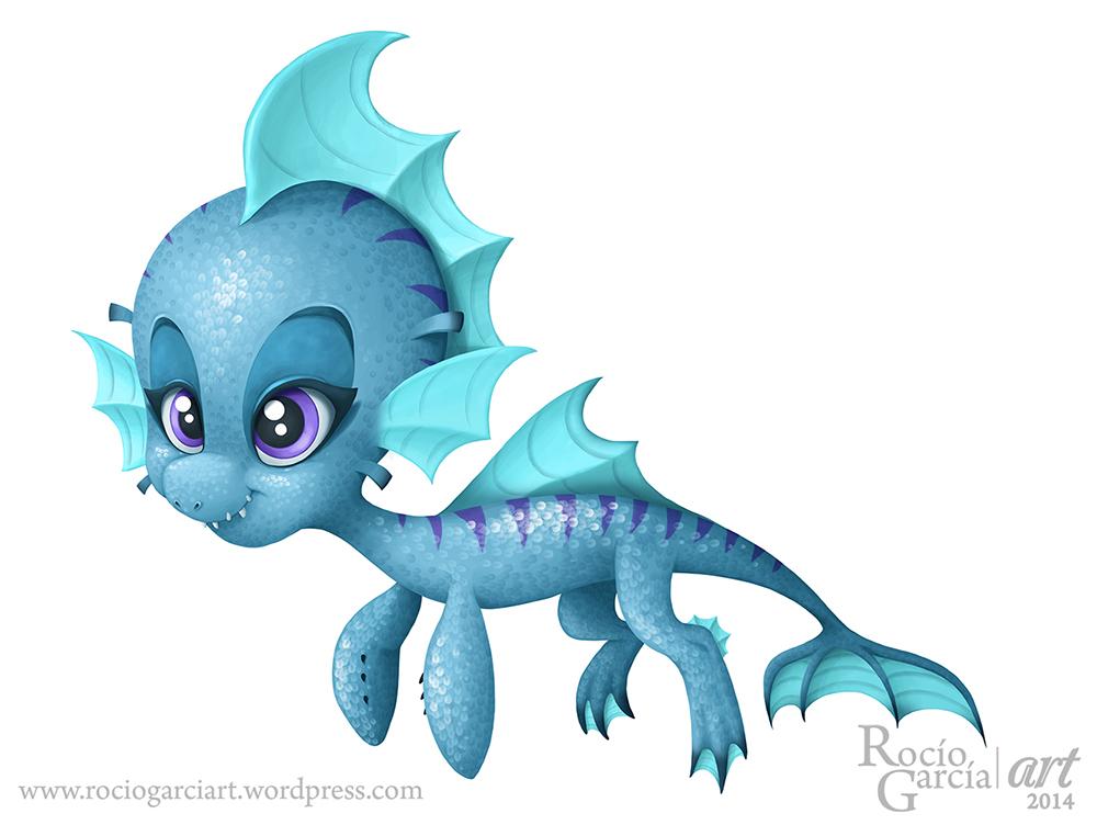 Water Dragon by RocioGarciaART