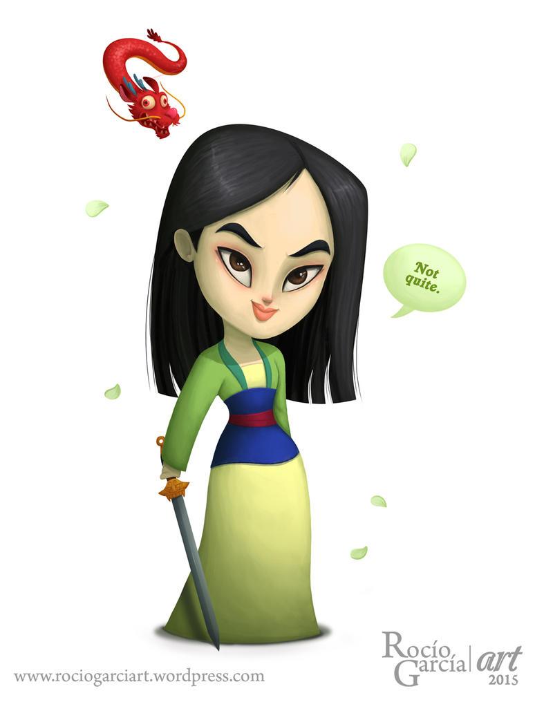 Mulan - Disney by RocioGarciaART