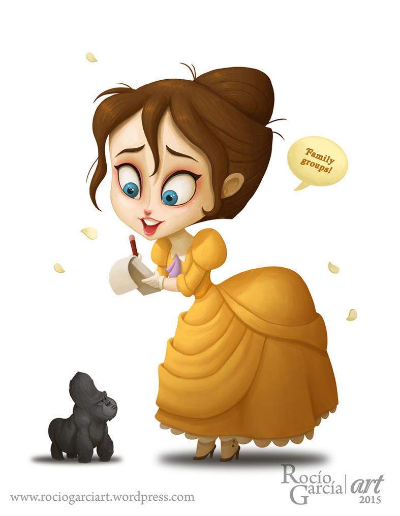 Jane - Disney by RocioGarciaART