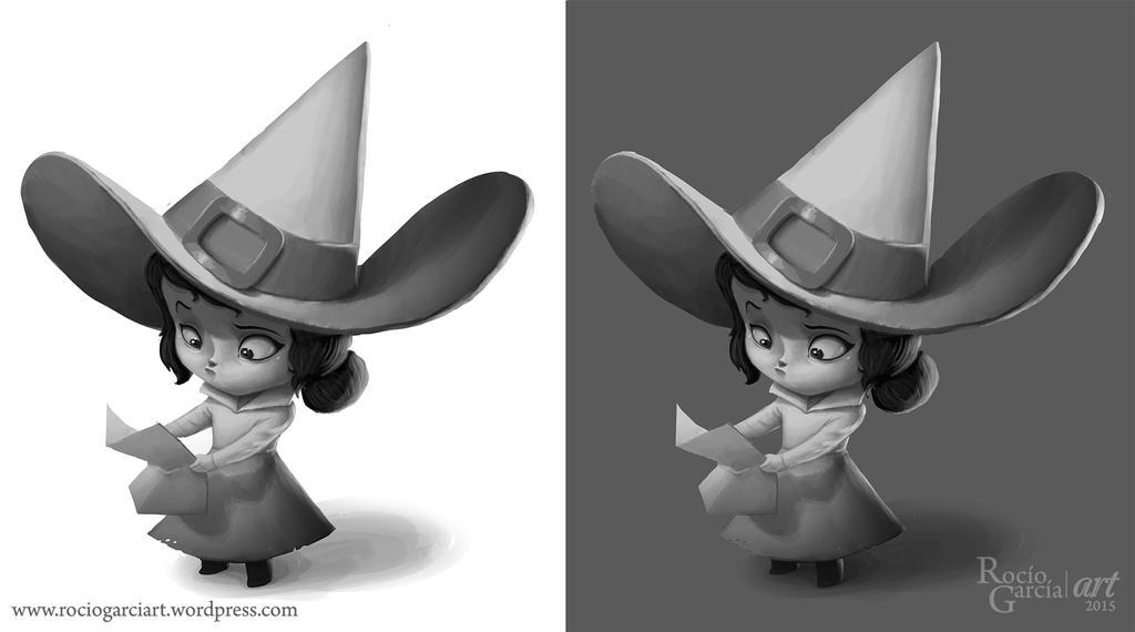 Witch studies by RocioGarciaART
