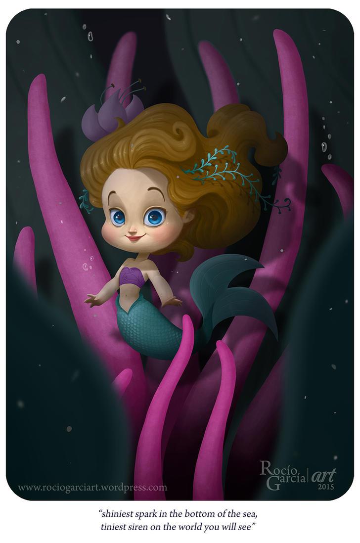 The Littest Mermaid by RocioGarciaART
