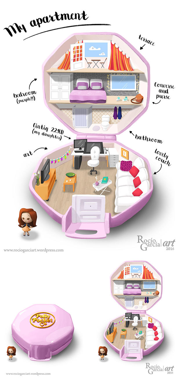 My Polly Pocket Apartment! by RocioGarciaART