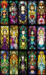 100 Classic Character Panels SET I by mandiemanzano