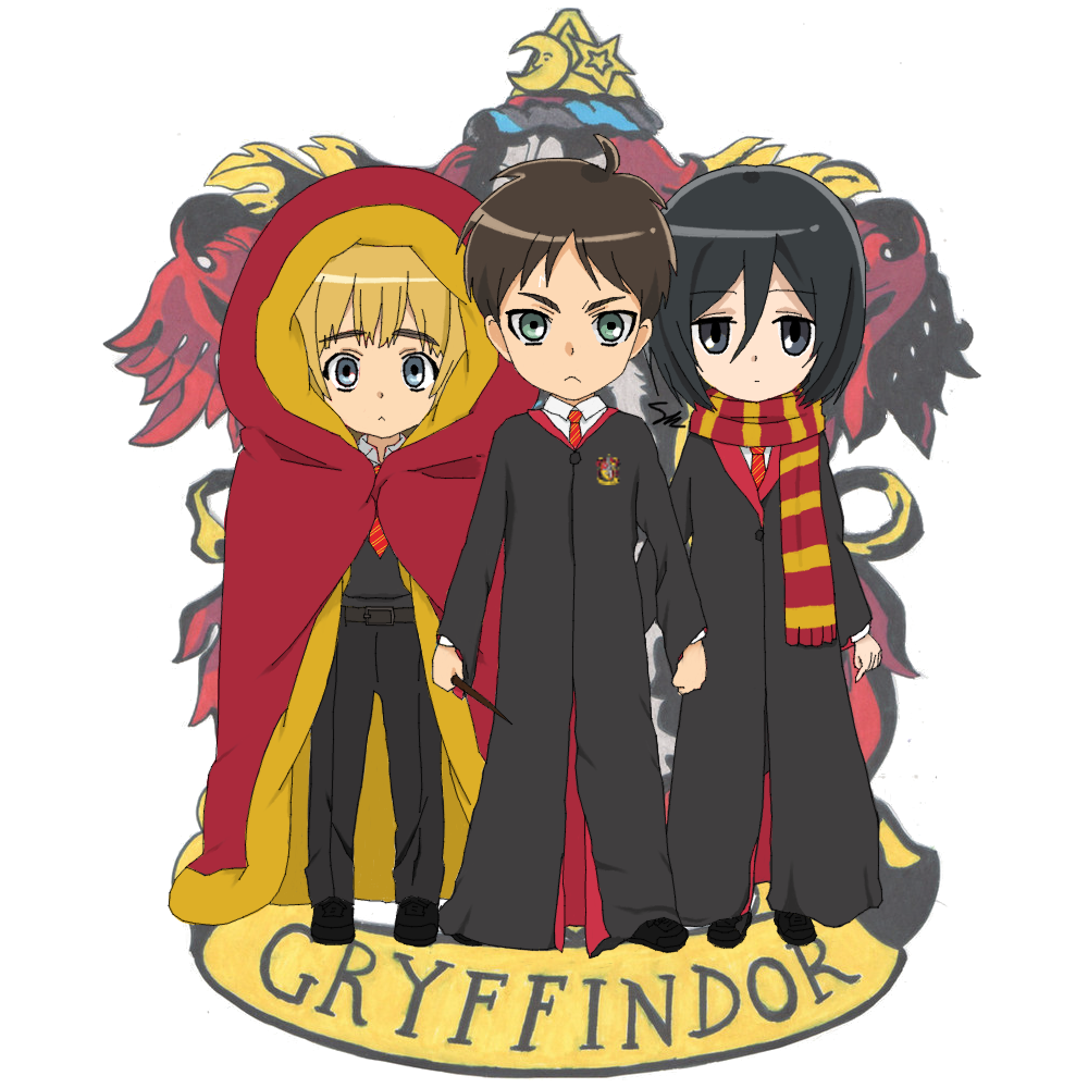 EnglandAmericaItaly Eren Jaeger And The Harry Potter AU By