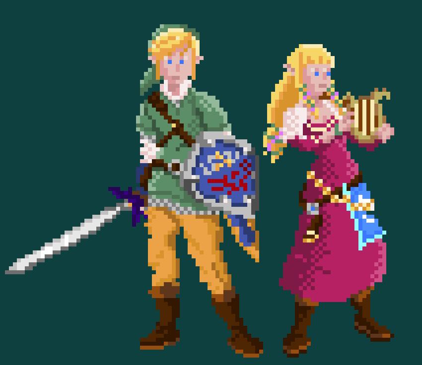 Skyward Sword Zelda And Link By