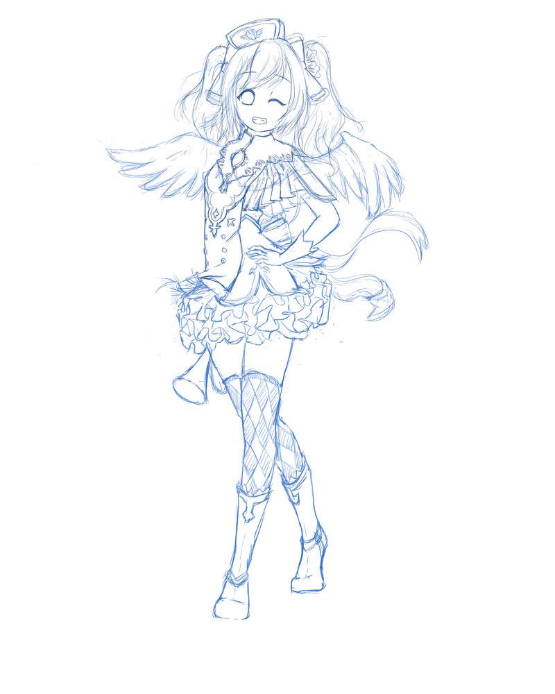 Sketch of love live yazawa niko by Eitari