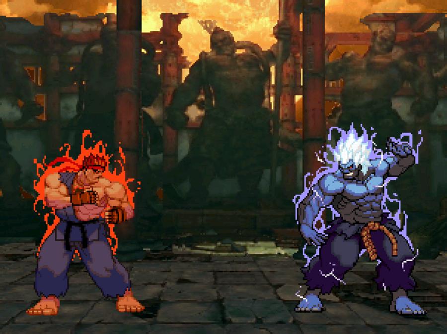 Evil ryu vs oni akuma by blackzero24 on deviantart - Akuma oni wallpaper ...