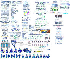 Ultimate Megaman X Sprite Sheet by BlackZero24