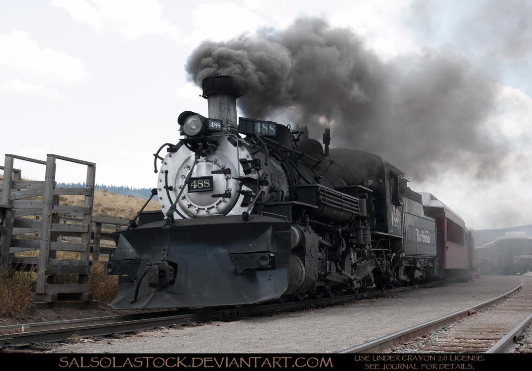 Steam Train 1 by SalsolaStock