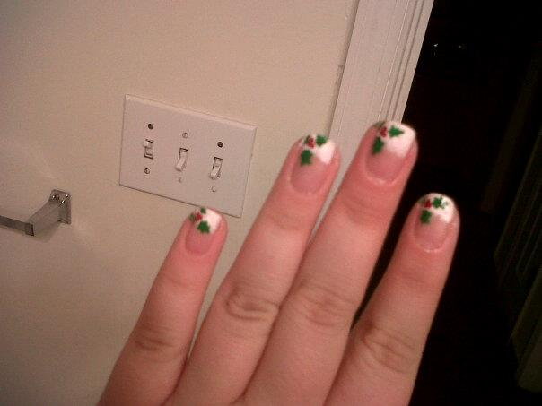 Mistletoe nail art by helmider on deviantart mistletoe nail art by helmider prinsesfo Image collections
