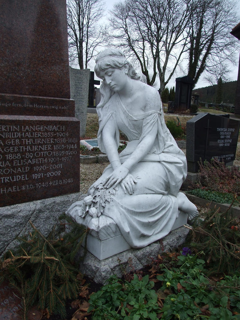 cemetary - statue 3 by sacral-stock