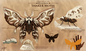 Animals of Jor: Shaker Moth by YasminFoster