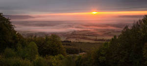 Schwalbenthal Autumn Sunrise by artmobe