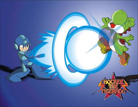 Super smash bros Megaman Vs Yoshi