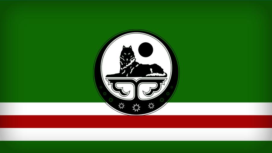 Chechnya Flag by Xumarov