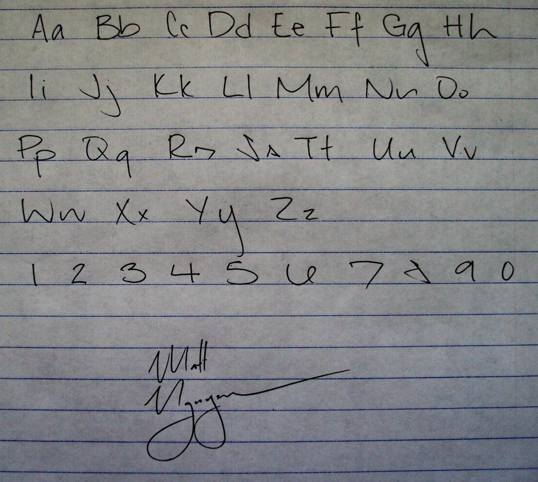 signature writing machine