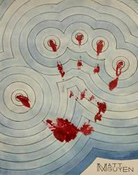 Bloody Handprint + Ripples